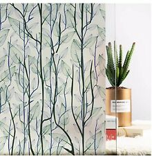 Static Cling Decorative Window Film Vinyl Non Adhesive Privacy Film Stained G