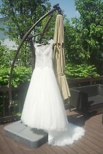 New Never Worn Size 4 Demetrios Ivory Tulle Wedding Dress With Tags & Dress Bag.