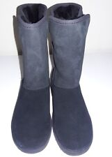 New UGG Australia Kids Alexey Black Suede & Shearling Lined Boot Size 13