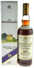 Rarität: The Macallan Whisky Jahrgang 1977, 18 Jahre alt, abgefüllt 1995, 0,7l