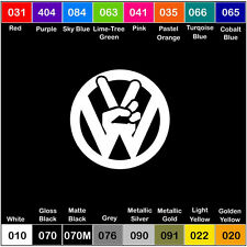 VW PEACE Vinyl Decal Sticker Window Car Truck Dub Volkswagen - 6 inch