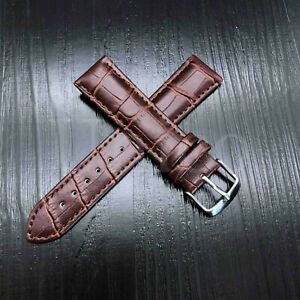 12 - 22 MM Watch Band Strap Genuine Leather Iwatch Alligator Crocodile Wrist USA