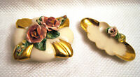 Vintage 3PC SET - Capodimonte Style Trinket Box With Lid and Dish