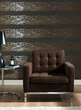 Unusual, Brown & copper striped, blown vinyl wallpaper *Paste the Wall* (773125)