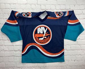 RARE Vintage 90s NHL New York Islanders  Jersey Lighthouse Fisherman 1990s KIDS