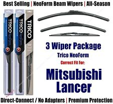 3pk Wipers Front/Rear NeoForm fit 2002-2007 Mitsubishi Lancer 16240/180/30170