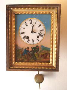 Antique Vienna Picture Frame Clock - Serviced, Running