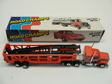 1983 Road Champs Mack Truck Car Carrier Red #69 In Box 1:64 Scale Die-Cast