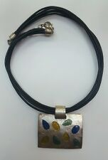 Jolie collier Dolce Vita en métal argenté.  Réf A205.