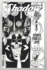 THE SHADOW: THE DEATH OF MARGO LANE #5 MATT WAGNER B & W VARIANT COVER - 1/10