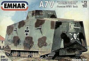 "Emhar 1/72 German A7V ""Sturmpanzer"" WWI Tank # 5003"