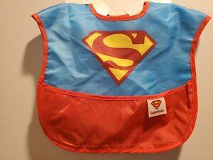 BumKins • Superman bib With Catch Pocket • Waterproof • Machine Washable