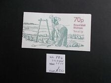 FD4a 1978 LM 70p Dry Stone Walling Folded Booklet with trimmed Perfs Cat £250