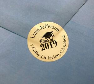 Class of 2019 Graduation Invitation, Envelope Seals, Announcement, Celebration