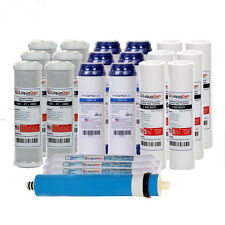 3 YEARS SUPPLY 22 PCS REVERSE OSMOSIS FILTERS & 75GPD MEMBRANE REPLACEMENT SET