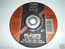 """Pferd Ps-Forte 7"""" Acero Fundido Amoladora Ángulo Disco de Rueda Disco 1/4 7/8 178 6 22.23mm"""