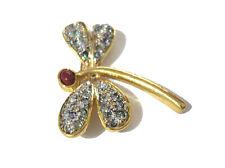 Goldtone Metal Dragonfly Brooch Pin Item 4814