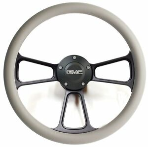 1960 - 1969  GMC Pick Up Trucks Gray & Black Billet Steering Wheel