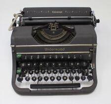 Vintage Antique 1940s Underwood Universal Typewriter With Original Case dms