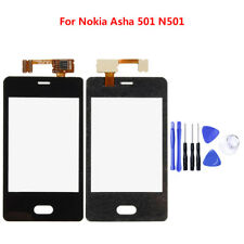 For Fly Nokia Asha 501 N501 LCD Touch Screen Digitizer Panel Front Glass+ Tools