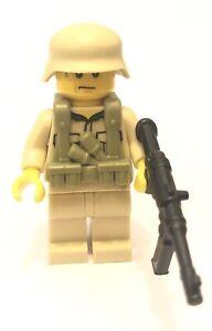 Lego WW2 Afrika Corps Minifigure MP40 Sub Machine Gun Soldier