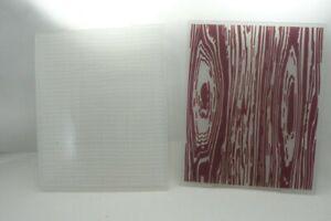 "Wood Grain & Texture Lot of 2 Embossing Folders Lumber  5.5"" x 4""  Used Good con"