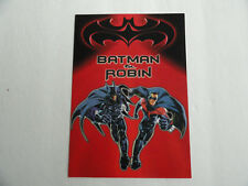 BATMAN & ROBIN - BLOCKBUSTER VIDEO GREETING CARD 1997 WITH ENVELOPE
