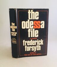 The Odessa File-Frederick Forsyth-SIGNED!!-First/1st Book Club Edition-1972-RARE