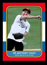 2020 Dr. Anthony Fauci Opening Day First Pitch Baseball Card Only 1000 Made