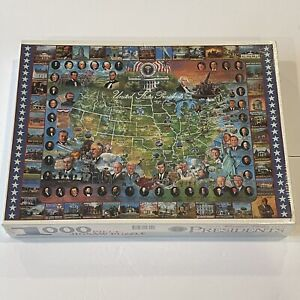 1999 White Mountain Puzzles United States Presidents 1000 Piece Puzzle History