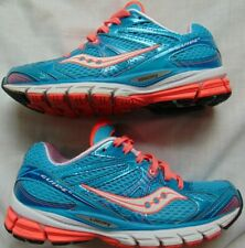 Womens Turq & Neon SAUCONY ProGrid Guide 6 Running Sneakers Shoes Sz 6
