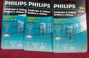 3 HALOGEN LANDSCAPE CABINET BULBS 12VOLT  PHILLIPS BC20W/T3/12V 20 WATT LIGHT