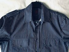 "Burton Blue & White Striped Long Sleeve Shirt - size S approx. 38"" chest"