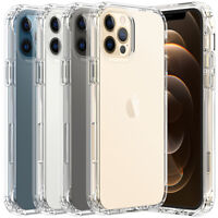 For iPhone 12 Pro Max Mini Shockproof Case Clear Slim Shockproof Hybrid Cover