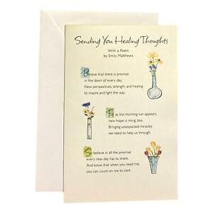 Get Well Greeting Card for Loved Ones, Family and Friends - Sending You Healing