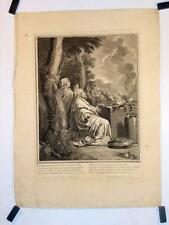 """Eau-forte et burin de DESPLACES d'après LEBRUN, """"Sacrifice d'Abraham"""""""