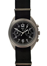 BRAND NEW N.A.T.O / RAF PATTERN MECHANICAL MILITARY PILOTS CHRONOGRAPH WATCH