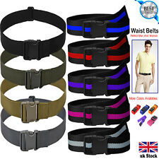 Quick Release Buckle Military Trouser BELT Army Tactical Canvas Webbing Black UK