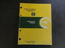 John Deere SRX75 and SRX95 Riding Mowers Operator's Manual  OMM95307 Issue H0