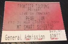 Pearl Jam Rock Music Concert Memorabilia