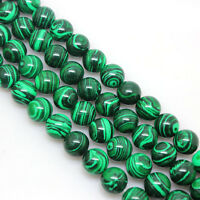 New Natural Malachite Gemstone Round Spacer Loose Stone Beads Charm 6/8/10/12mm