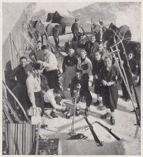 D8461 Scuola Nazionale di Sci di Cortina - Alla Capanna Tofana - 1936 stampa
