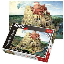Trefl 4000 piece adulte grand plancher babel tower bible sainte ancien jigsaw puzzle neuf