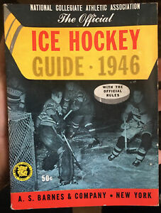 1946 NCAA College / University ICE HOCKEY GUIDE by A. S. Barnes & Co 106 Pages