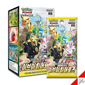 Pokemon Card Sword&Shield Eevee Heroes Enhanced Expansion Booster Box-Korean Ver