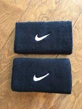 Nike Swoosh Wristbands Doublewide 1 Pair Black Size Men