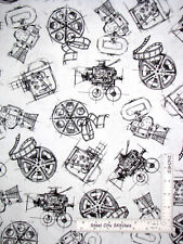 Movie Projector Film Reel White Cotton Fabric Windham Lights Camera By The Yard