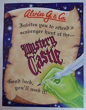 "1993 Alvin G. & Co. ""Mystery Castle"" Pinball Machine Flyer/Brochure Original"
