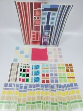 Creative Memories Jumbo Great Lengths Red & Blue + Many Color Blocks Strips