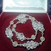 Eterea collana anni 20' cristallo simulato faux crystal necklace collier ancien